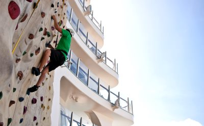 Royal Caribbean rock climbing wall